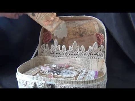 shabby chic now trashtotreasure vintage junkjournal in a shabby chic altered suitcase youtube