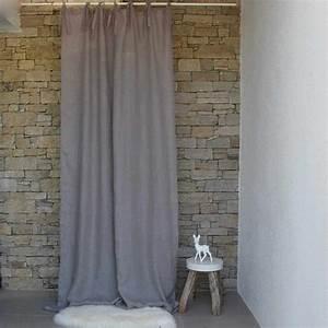 Rideau Voilage Lin : rideau voilage mod le gaze de lin lav gris le monde de rose ~ Teatrodelosmanantiales.com Idées de Décoration