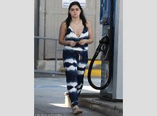 Ariel Winter takes the plunge in tie dye jumpsuit while