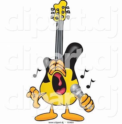 Guitar Cartoon Clipart Singing Rock Roll Loud