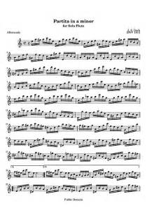 Partita for solo flute Original version - Flûte