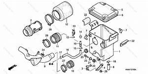 Honda Atv 2002 Oem Parts Diagram For Air Cleaner