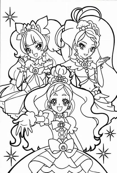 Coloring Anime Princess Princesses Glitter Force Precure