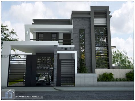 J S Home Design : 2 Storey Residential House By J.j.s Architectural Services