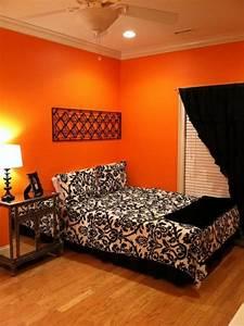 30, inspiring, ripe, orange, room, designs