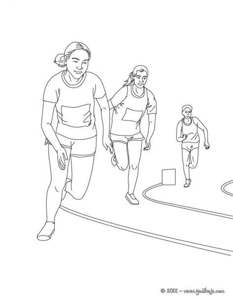 imagenes  pintar de atletismo colorear imagenes