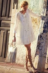 Was Ist Boho Style : boho chic bermeja tunic dress gypsy style with modern hippie lace up sandals follow http www ~ Orissabook.com Haus und Dekorationen