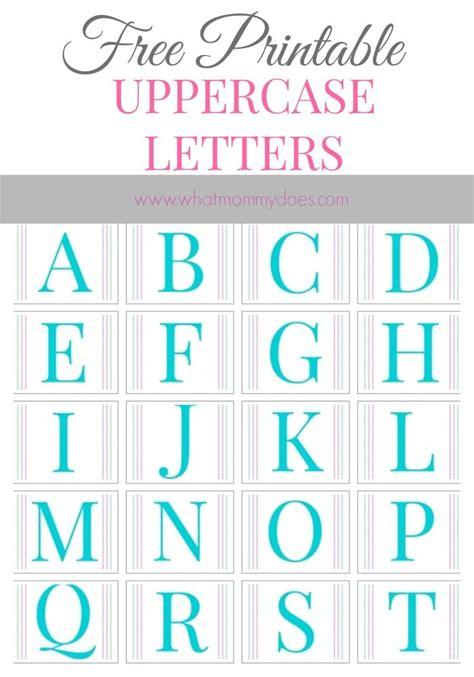 printable alphabet letters    printable