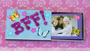 kid craft bff matchbox mini album running  sisters