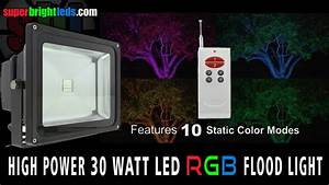 Led Flood Light Color Changing 30 Watt Rgb Fixture With