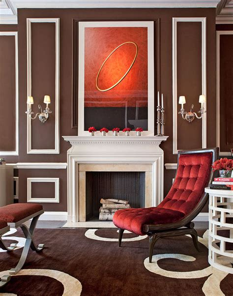 showhouse rooms  red accents traditional home