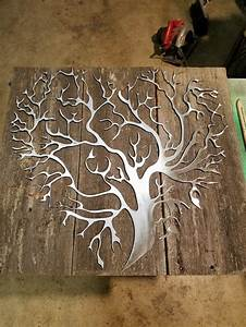 Metal And Woods : 25 best ideas about metal tree on pinterest mailbox ~ Melissatoandfro.com Idées de Décoration