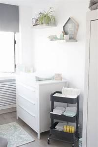 Vide Poche Ikea : great onze mintgroene babykamer kinderkamer met commode en rol trolley van ikea our nursery room ~ Melissatoandfro.com Idées de Décoration