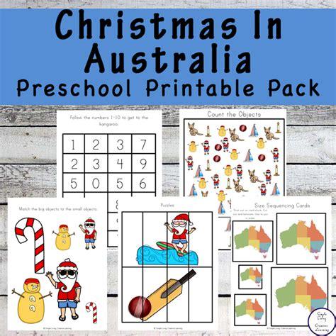 in australia preschool printable pack simple 396 | Christmas in Australia Preschool Pack a