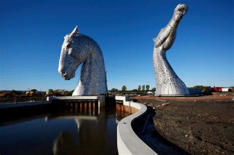 The Kelpies, A Pair Of Massive Stainless Steel Horse Head