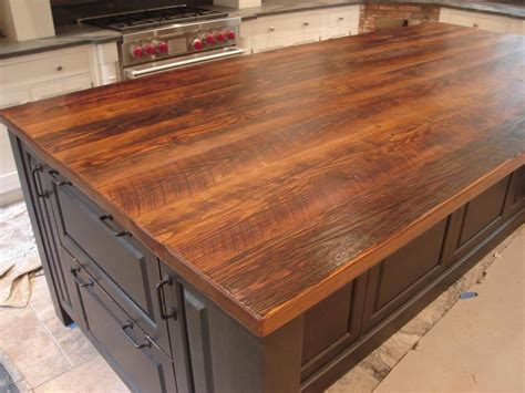 wood island tops kitchens i must this fabulous wood plank countertop stunning