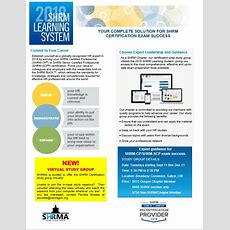 2018 Shrm Learning System Study Group  Salem Human Resources Management Association