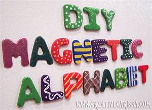 make funky alphabet magnets dollar store crafts With dollar store wooden letters