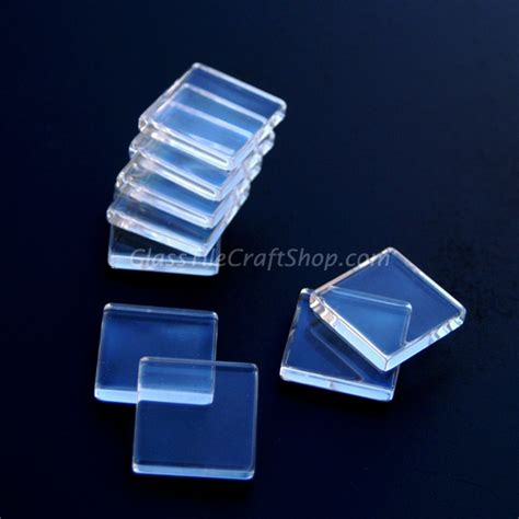 clear glass tile wholesale 1 inch square glass cabochons