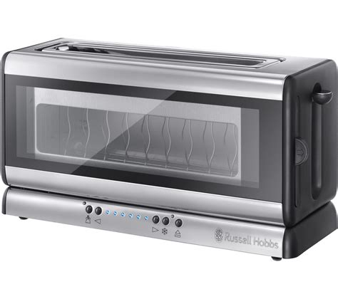 hobbs toaster glas buy hobbs 21310 2 slice toaster black glass free delivery currys