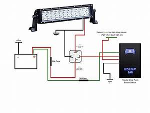 Light Bar Wiring Diagram Wonderful Shape Led Install Toyota Runner Inside