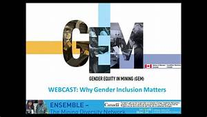 "Ensemble Webcast: ""Panel Discussion: Why Gender Inclusion ..."