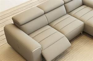 Canapé Cuir Gris Clair : mobilier priv marque de mobilier design mobilier priv mobilier prive canape angle ~ Teatrodelosmanantiales.com Idées de Décoration