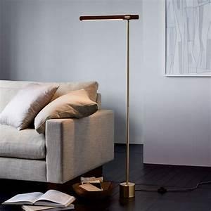 Linear wood led floor lamp west elm for Pizzazz led floor lamp