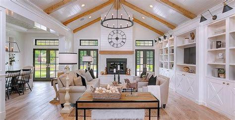 dramatic modern farmhouse  stunning white  black