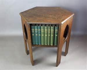 arts and crafts table ls oak arts and crafts teardrop book table c1900 antiques atlas