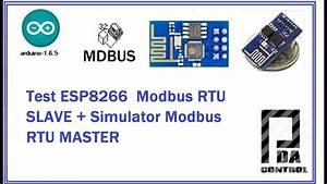Test Esp8266 Modbus Rtu Slave And Simulator Modbus Rtu