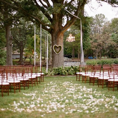 a simple ceremony under a tree love the heart shaped