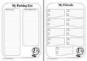 7 best images of travel journal printable template free With trip diary template