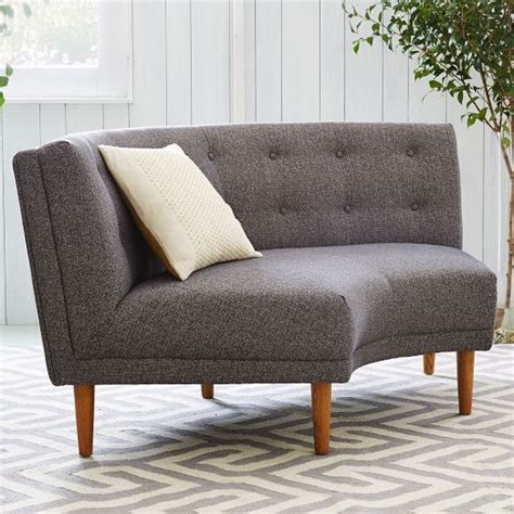 Bay Window Settee by Rounded Retro Curved Sofa West Elm This Is For