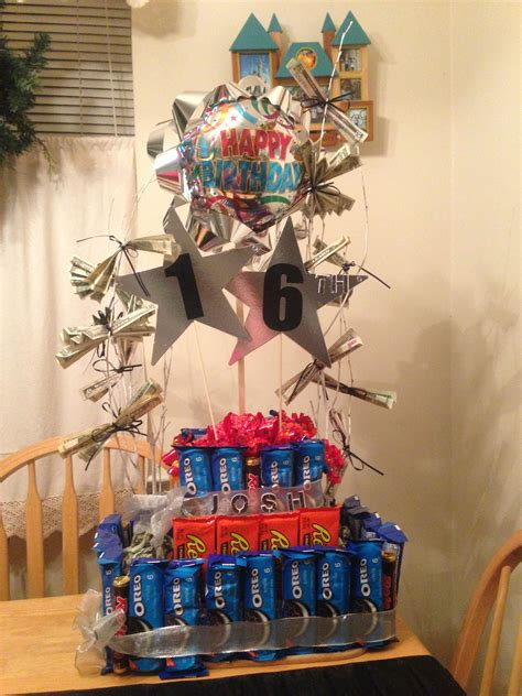 year  boy candy cake  money tree  birthday