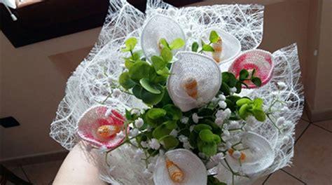 fiori fatti a uncinetto bouquet calle