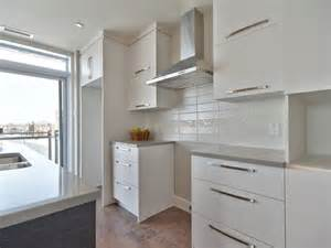 hotte de cuisine stainless cuisine moderne avec comptoir de quartz facile d entretien dosseret de cuisine encastr 233 s au