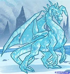 How to Draw an Ice Dragon, Ice Dragon, Step by Step ...
