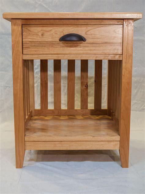 Shaker Nightstand by Custom Cherry Shaker Nightstand By Fallen Leaf Woodworks