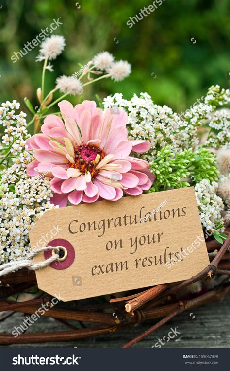 flowers card examcongratulation   exam stock photo  shutterstock