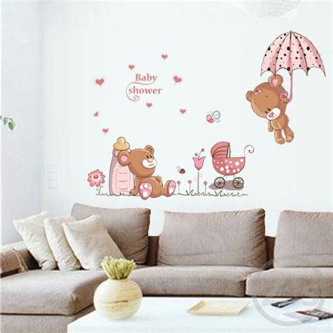 stickers chambre bébé nounours lovely wall stickers children room home decor