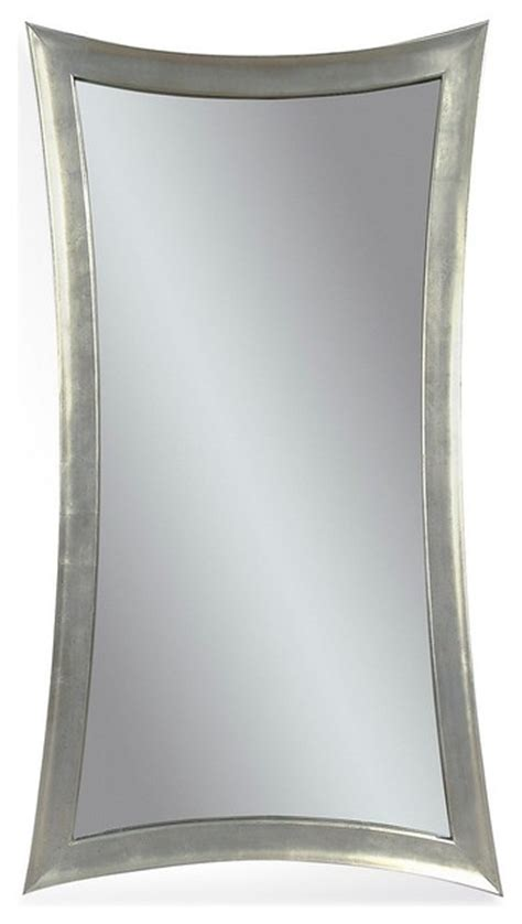 floor mirror glass bassett mirrors hour glass 48x36 wall mirror in silver leaf transitional floor mirrors by