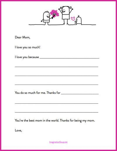 heres  quick mothers day printable letter template