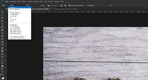 photoshop bilder zuschneiden basics tutorials