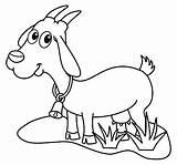Goat Coloring Dairy Field Colorear Campo Lacteos Cabra Cattle Mammal Animal sketch template