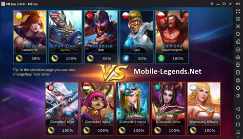 Play On Pc, Mobile Legends