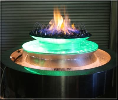 custom fire  water fountain  led light system