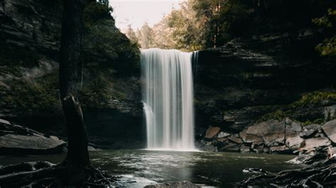 Download Wallpaper 1920x1080 Waterfall Stones Landscape Dark Full Hd Hdtv Fhd 1080p Hd