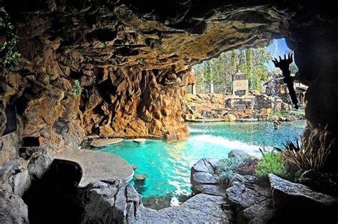 drake grotto pool waterfalls mansion hidden hills