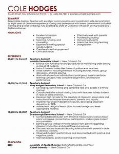 teacher assistant resumes best letter sample With best teacher resume examples